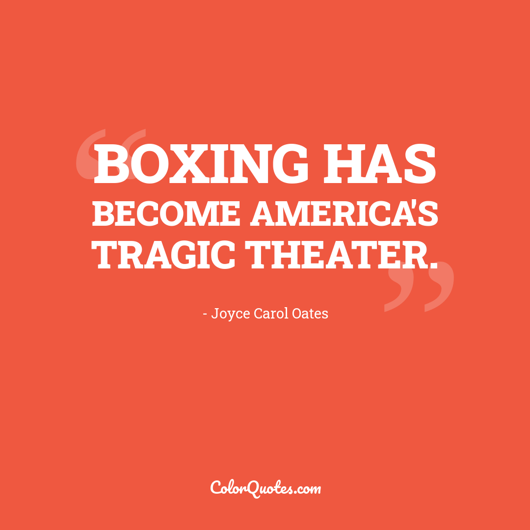 Boxing has become America's tragic theater.