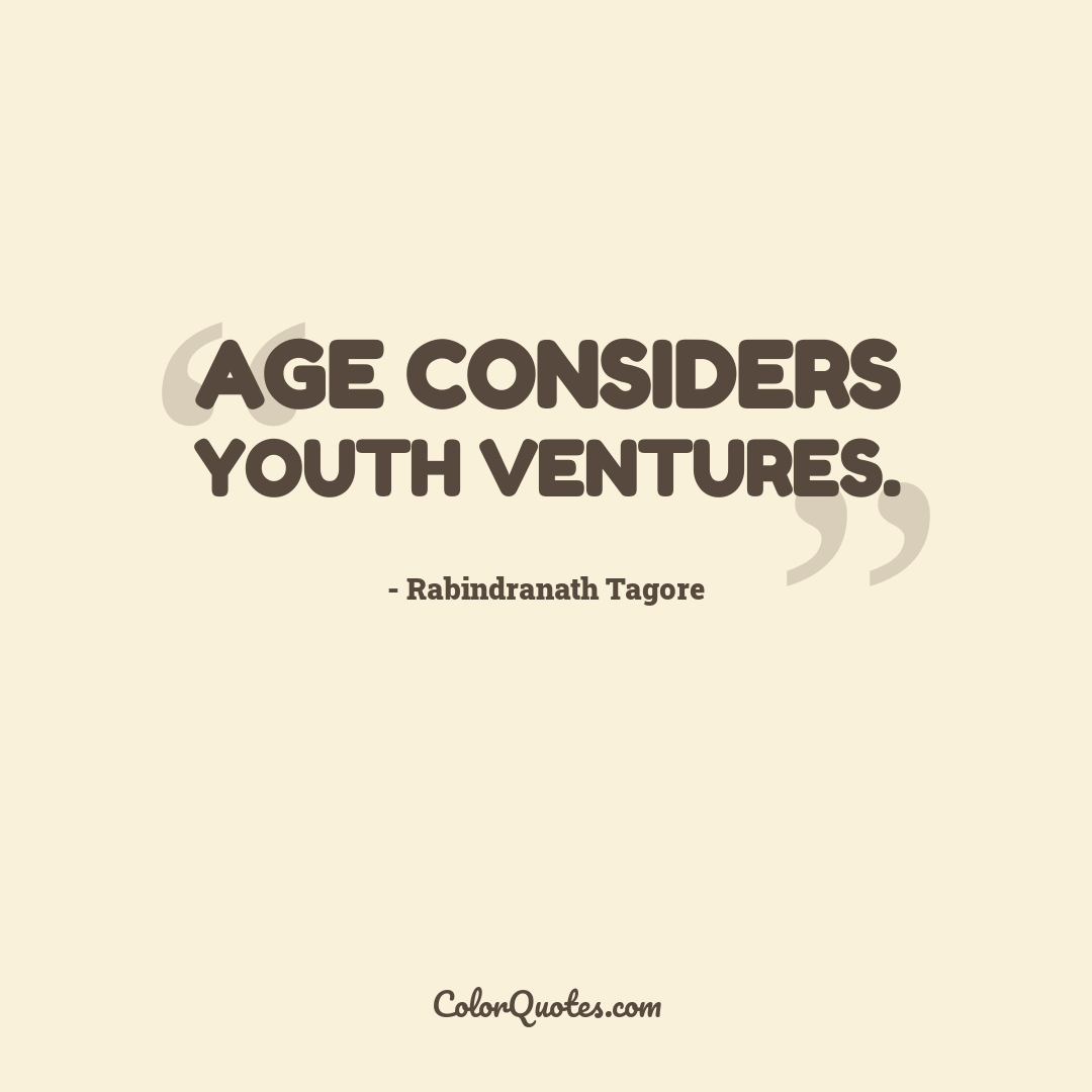 Age considers youth ventures.