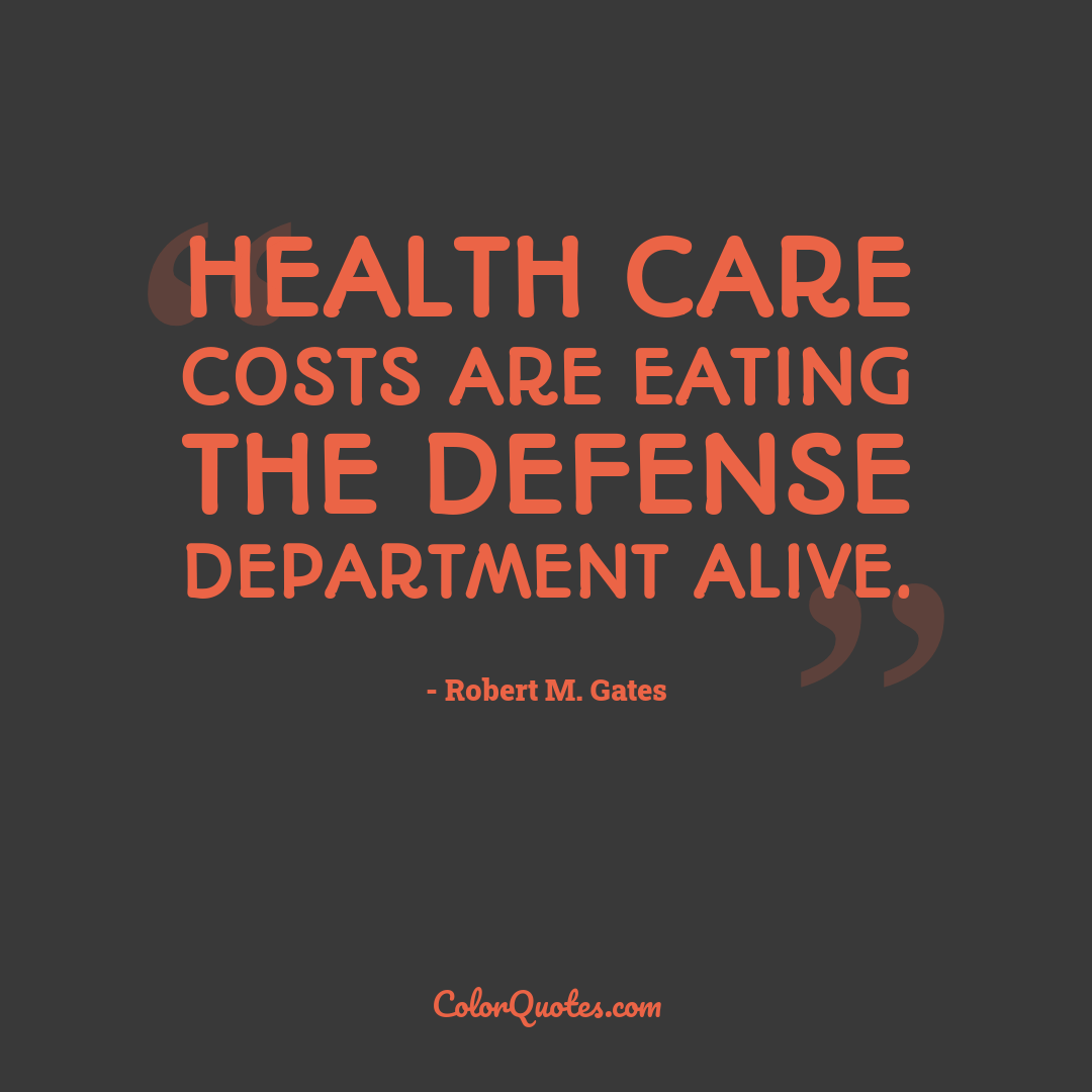 Health care costs are eating the Defense Department alive.